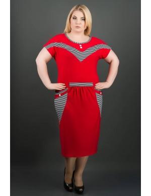 Женский сарафан большого размера Джекки (красный)
