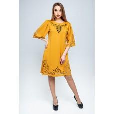 Платье Валенсия (горчичный)