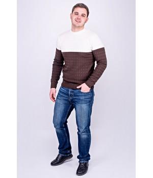 Мужской свитер Михаил (коричневый)