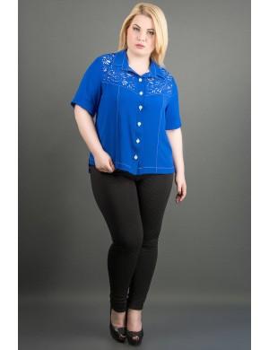 Женская рубашка большого размера Ника (электрик )