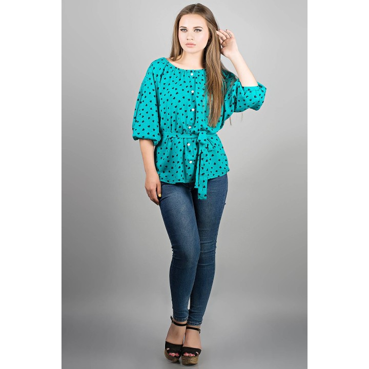 Рубашка Лолита (бирюза) Оптовая Цена