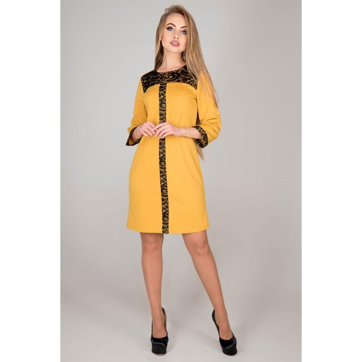 Платье Таура (горчичный) Оптовая цена