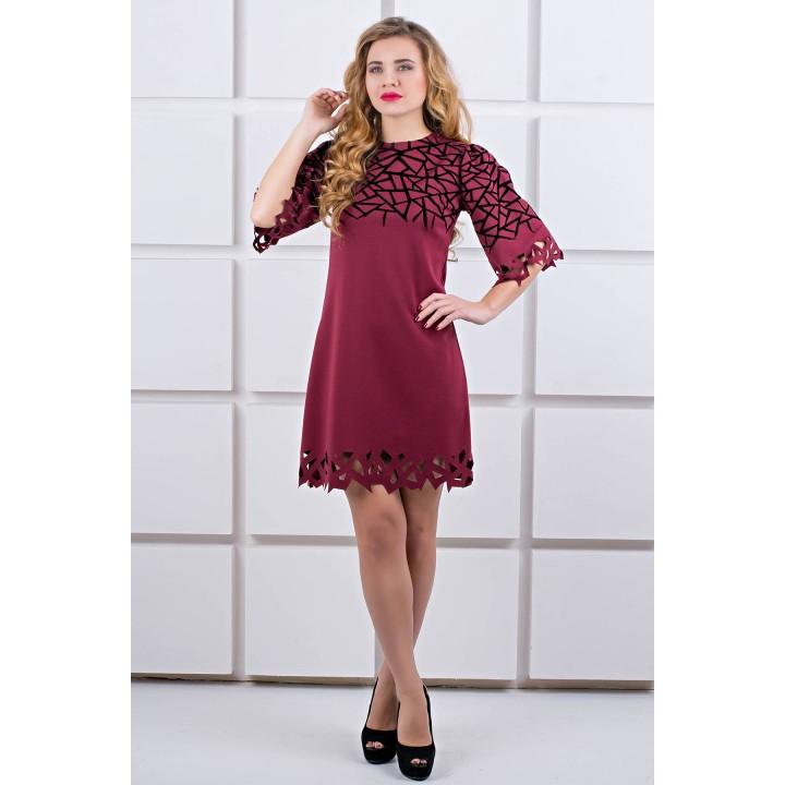 Платье Мэйби (бордовый) Оптовая цена