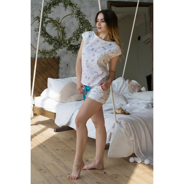 Пижама Алекса (белый) оптовая цена