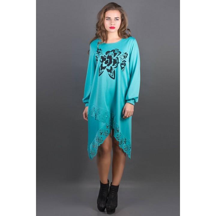 Платье Бланк (бирюза) Оптовая цена