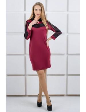 Платье Камита (бордовый)