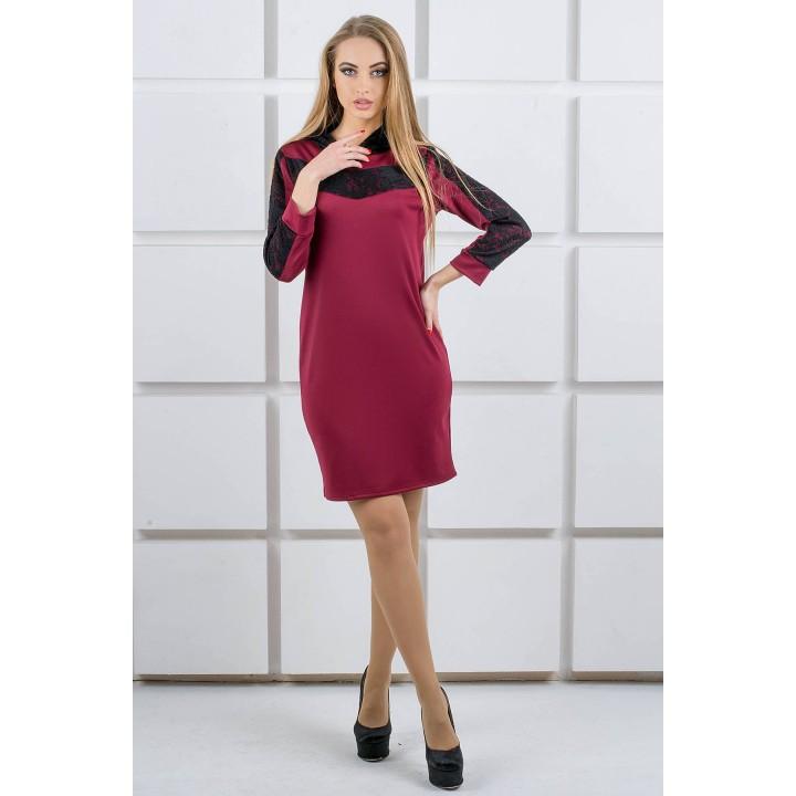 Платье Камита (бордовый) Оптовая цена