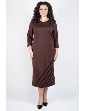 Платье Камелия (коричневый)