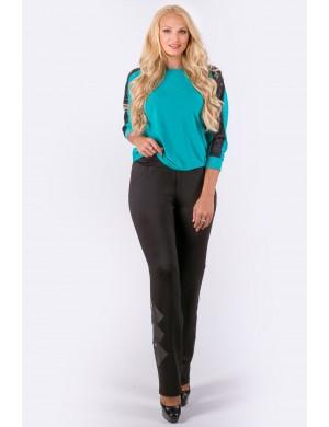 Женские брюки большого размера Хлоя (черный)