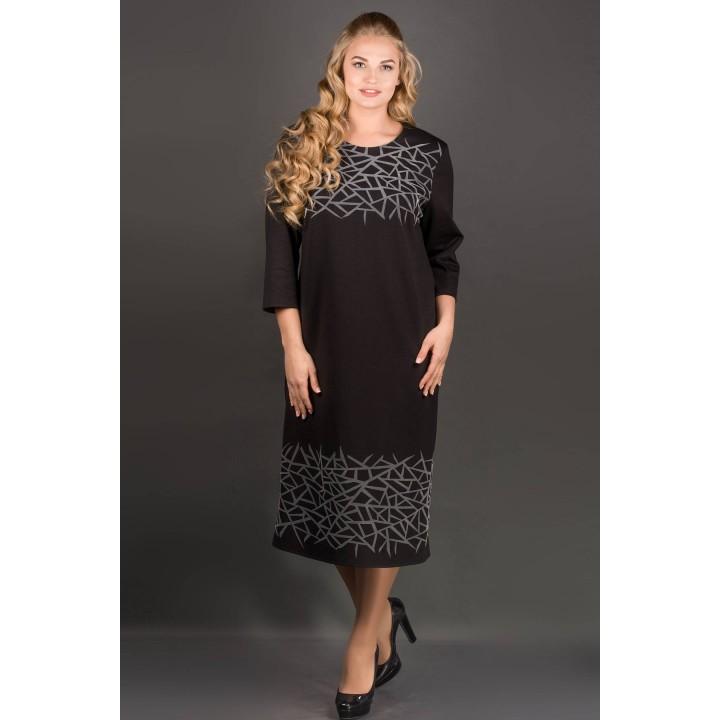 Платье Пиастра (черный) Оптовая цена