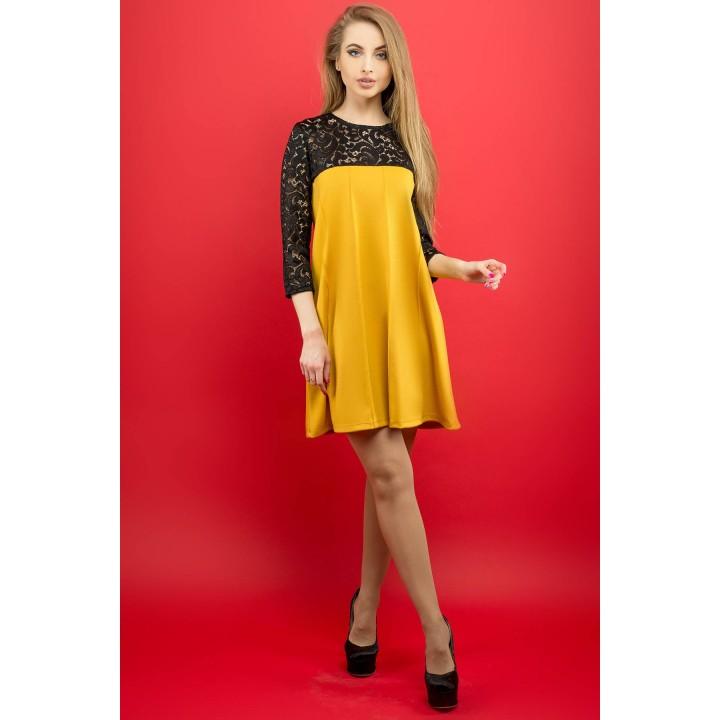 Платье Эмма (горчичный) Оптовая цена