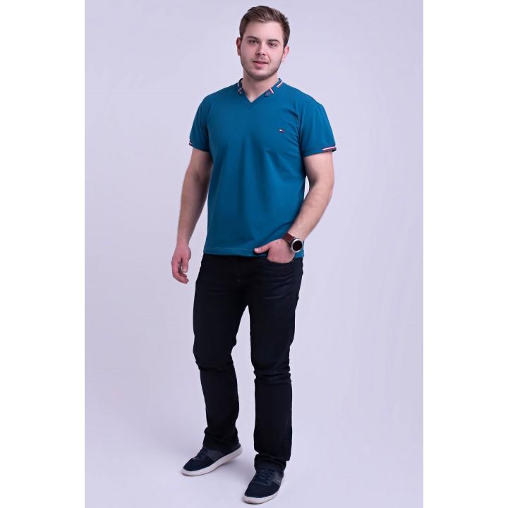Мужская футболка Грэй (синий) оптовая цена
