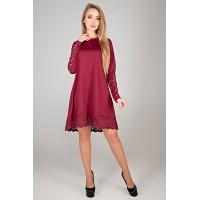 Платье Эрин (бордовый)