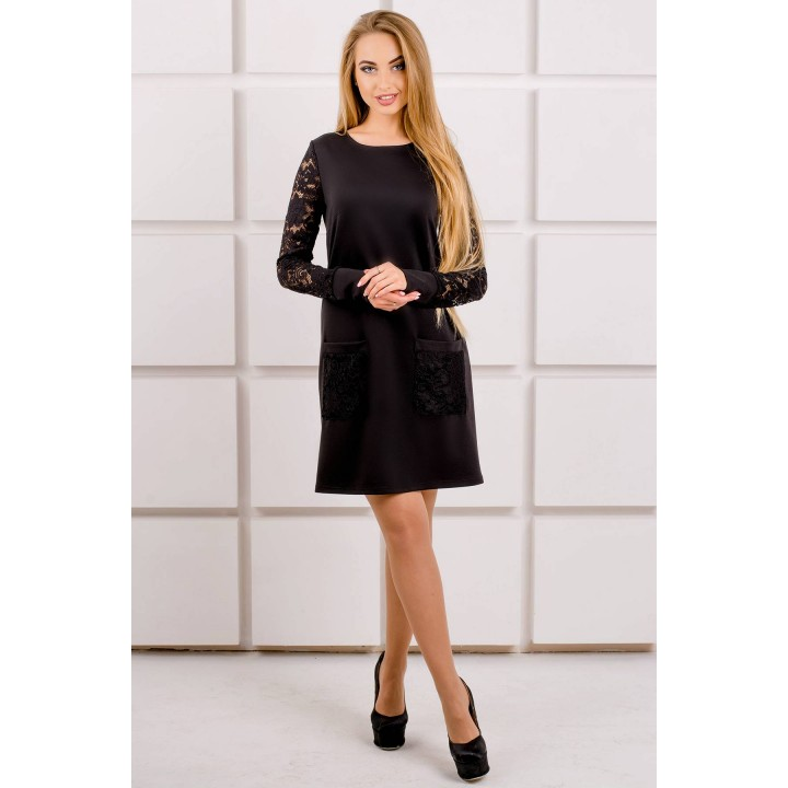 Платье Кэнди (черный) Оптовая цена