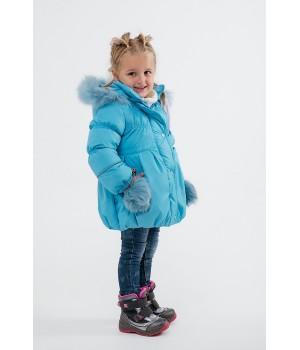 Зимняя детская куртка Бемби (морская волна)