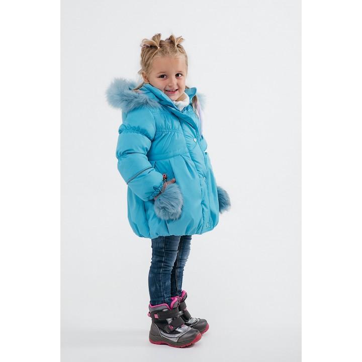 Детская зимняя куртка Бемби (морская волна) Оптовая цена