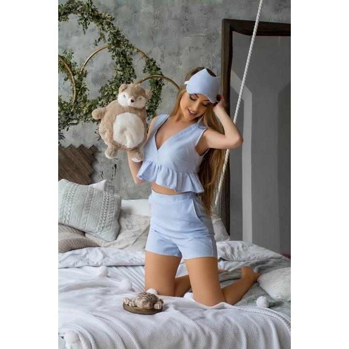 Пижама Меган (голубой) оптовая цена