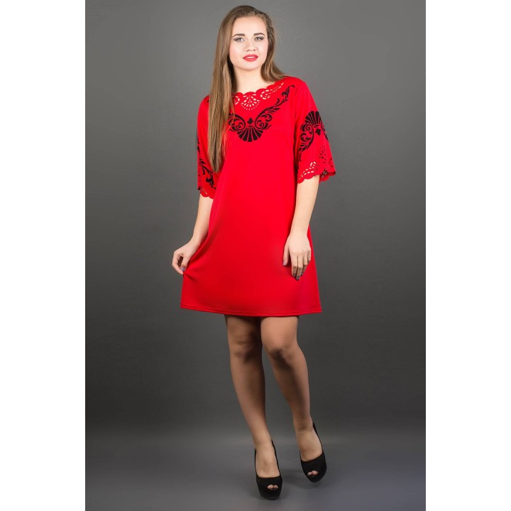 Платье Юлия (коралл)    оптовая цена