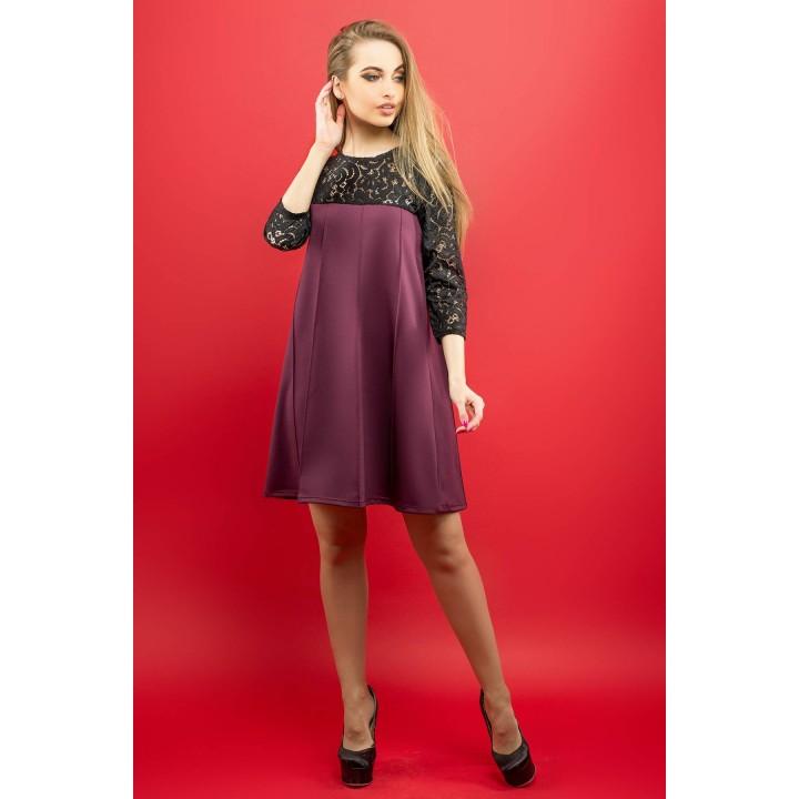 Платье Эмма (бордовый) Оптовая цена