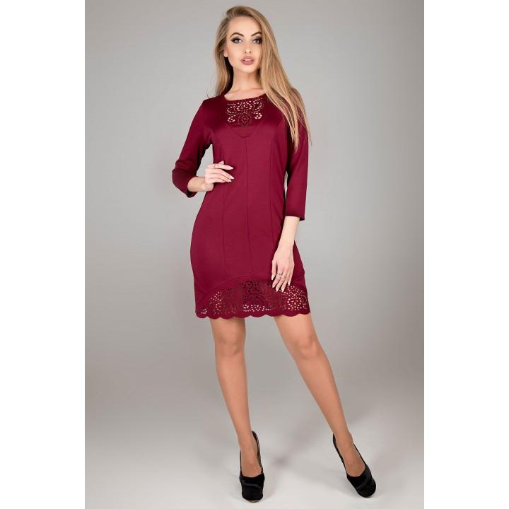 Платье Форина (бордовый)