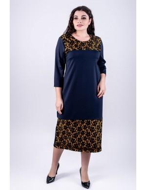 Женское платье большого размера Латика (синий)