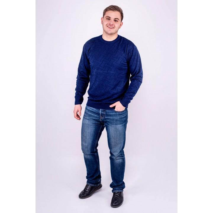 Мужской свитер Гриша (синий) оптовая цена