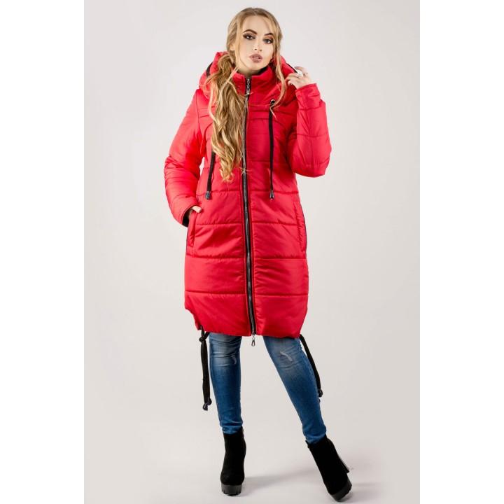 Зимняя куртка Лиана (красный)