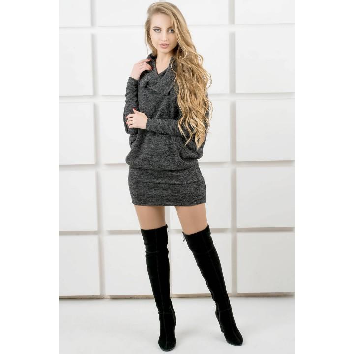Платье-туника Шерли (черный) оптовая цена