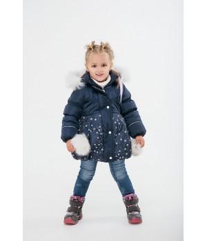Зимняя детская куртка Бемби (синий)