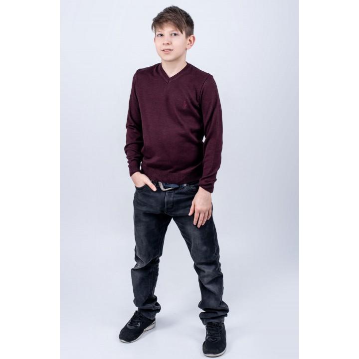 Детский свитер Поль (бордовый)