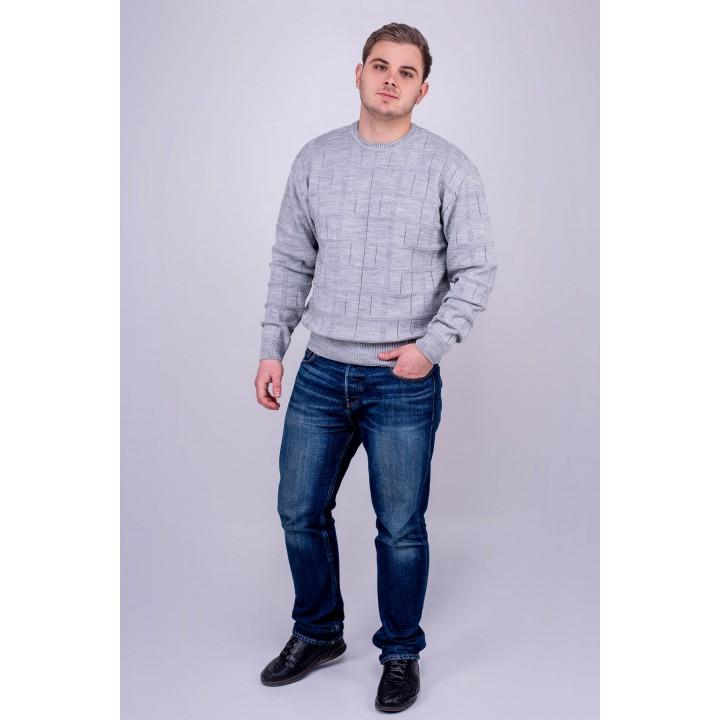 Мужской свитер Максим (серый) оптовая цена