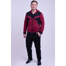 Мужской спортивный костюм Адвенд (бордовый)