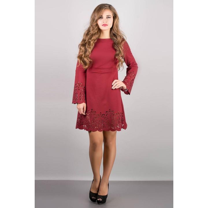 Платье Мальдива (бордовый) Оптовая цена