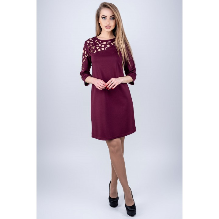 Платье Луиза (бордовый)