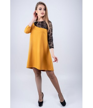 Платье Сакура (горчичный)