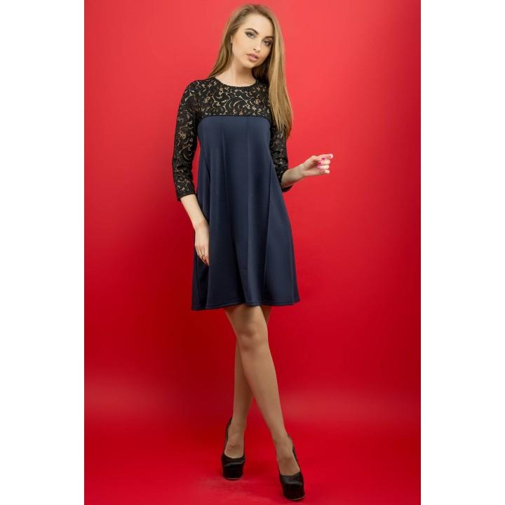 Платье Эмма (синий) Оптовая цена