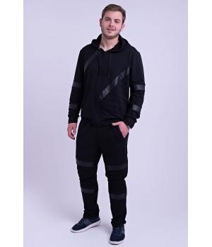 Мужской спортивный костюм Конти (черный)