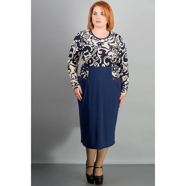 Платье Шерри (синий) Оптовая цена