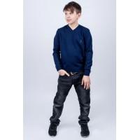 Детский свитер Поль (синий)