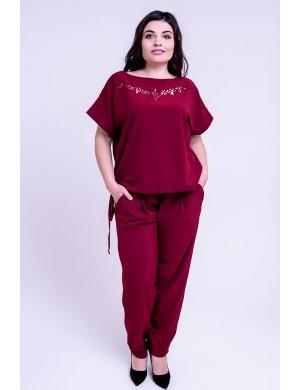 Женский костюм Николь (бордовый)