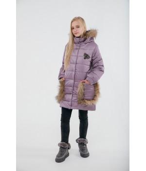 Зимняя детская куртка Ангелия (розовый)