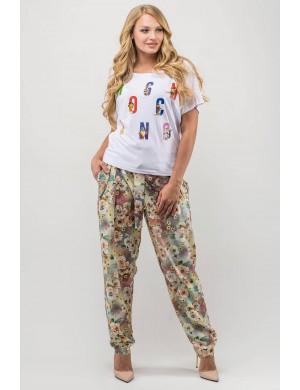Женские брюки большого размера Руби (бежевый)