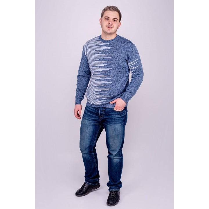 Мужской свитер Виктор (синий) оптовая цена