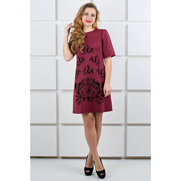 Платье Ариэль (бордовый)