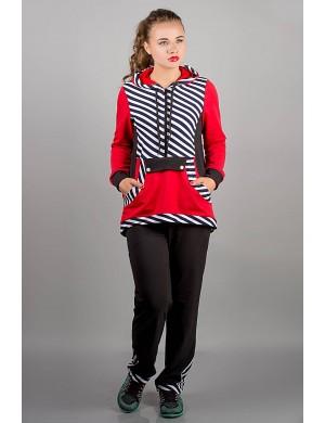 Спортивный костюм Магнолия (красный полоска)