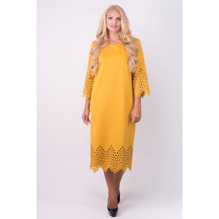 Платье Кайла (горчичный)