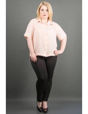 Женская рубашка большого размера Ника (персик )