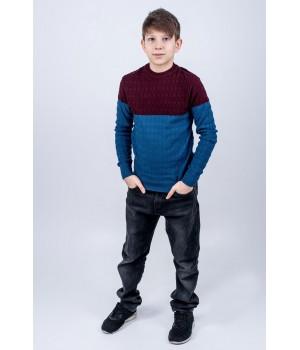 Детский свитер Михаил (бирюза)