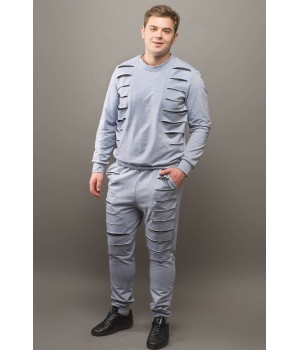 Мужской спортивный костюм Эполь (серый)