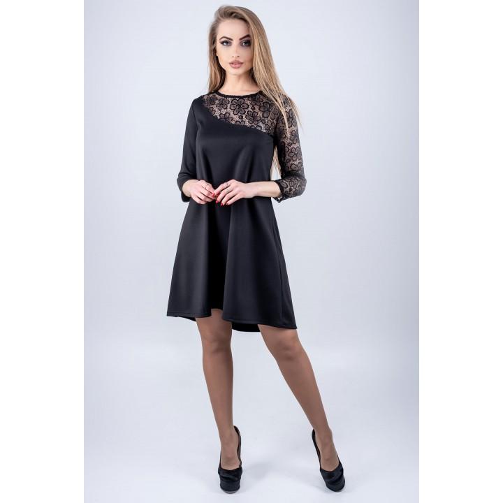 Платье Сакура (черный) Оптовая цена